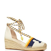 Tory BurchLaguna Lace Up Wedge Espadrilles