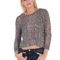 Vintage Havana Open Weave Sweater