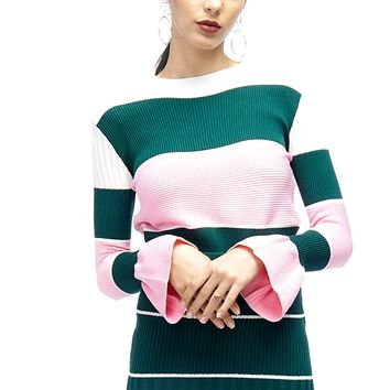 Dippin Dots Pastel Bell Sleeves Sweater