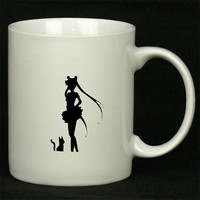 Deluxe Sailor Moon Crisis Moon Compact Black For Ceramic Mugs Coffee *