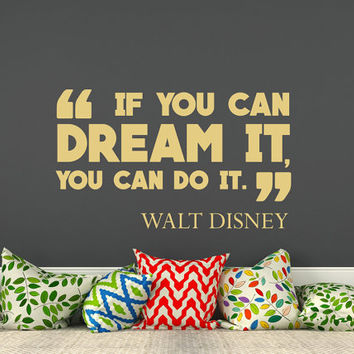 Vinyl Wall Decals Quotes If You Can Dream It You Can Do It Decal Vinyl Lettering Motivation Stickers Kids Nursery Home Decor T85