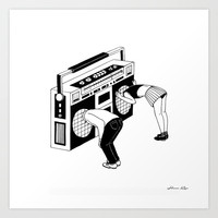 Stereo Kids Art Print by Henn Kim