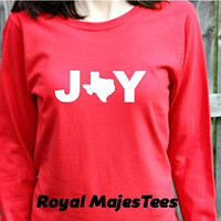 Texas Joy Christmas Shirt, Long Sleeve Texas Shirt