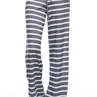 Keepin' It Casual Stripe Lounge Pants (Navy)