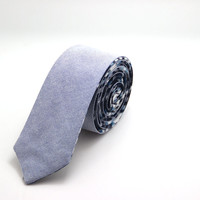 Blue Reversible Slim Tie