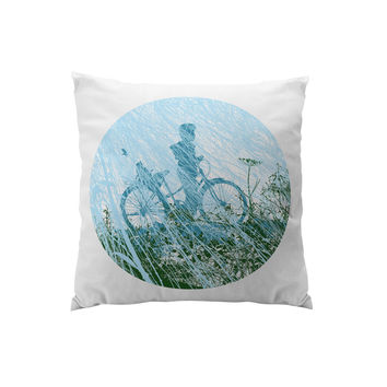 Throw Pillows for Couches / Bicycle Boy by Chris Keegan