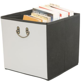 Collapsible Storage Faux Leather Cube