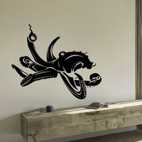 Wall Decal Vinyl Sticker Animal Octopus Sea Ocean Decor Sb405