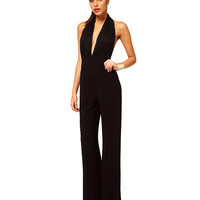 High Waist Backless Jumpsuit