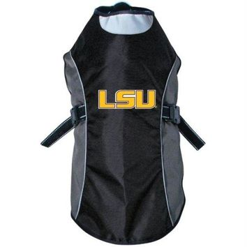 DCCKT9W LSU Tigers Water Resistant Reflective Pet Jacket