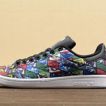 [ Free Shipping ]Adidas Originals Mens Stan Smith Tongue Label Trainers Sneakers S77683 Running Sneaker