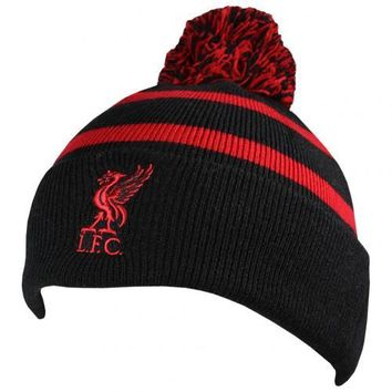 Liverpool FC Black and Red Knitted Ski Hat