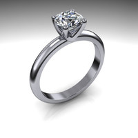 Forever Brilliant Moissanite and Diamond Engagement Ring 1 CTW