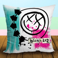 Blink 182 Rock Band Logo - Pillow Case, Square and Rectangle One Side/Two Side.
