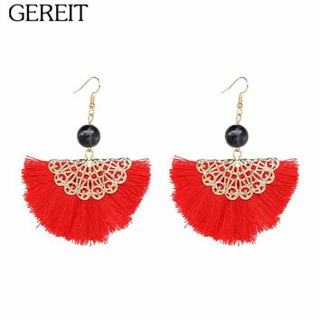 Ethnic Long Tassel Earrings For Women Bohemian Pearl Statement Dangle Drop Earring Fringed Pendientes Boho Indian Jewelry 2018