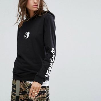 Stussy Lightweight Hoodie With Yin Yang Print at asos.com