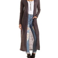 Pointelle Duster Cardigan Sweater by Charlotte Russe