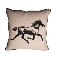 Mustang Canvas/Linen Throw Pillow