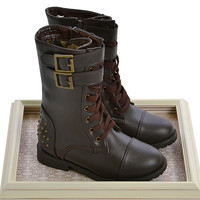 Laura Ashley Shoes Highend Studded Lace-Up Boots