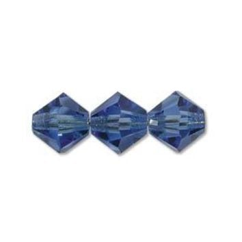 MC30203SAP - 3mm Preciosa Bicone Crystal Beads,  Sapphire | Pkg 144