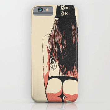 Pure Sex, sexy bikini hood girl, kinky rear view, slim and fit woman body artwork iPhone & iPod Case by Casemiro Arts - Peter Reiss