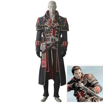 Anime! Assassin's Creed:Rogue Shay Patrick Cormac Uniform Cosplay Costume For Men Free Shipping