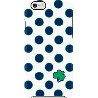 Notre Dame iPhone 6 Shamrock Dots Deflector Case - Blue