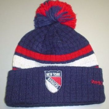 Reebok New York Rangers 2012 Winter Classic Player Cuffed Knit Hat One Size Fits All