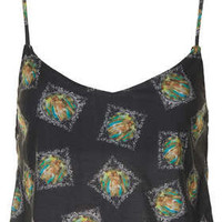 Mary Tile Print Cami Top - Tops  - Clothing