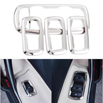 4Pcs/set Window Lift Switch Sticker Interior Door Button Trim Cover For Ford Fiesta 3/Ecosport/MK7 Decoration Accessories