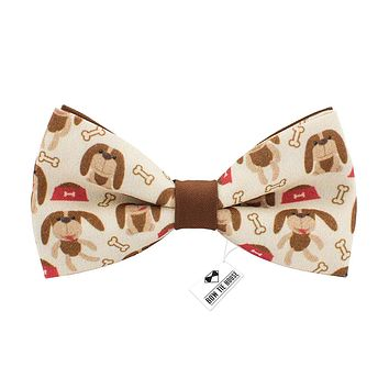 Dogs Pattern Bow Tie