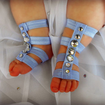 Gladiator Sandals, Baby Girls Barefoot Sandals, Newborn Girl Crib Shoe, Baby Shoes, Baby Sandals, Toddler Gladiator Sandals, Coming Home