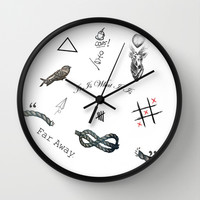 Louis's Tattoos Wall Clock by Kate & Co.