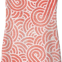 Peach echo and white swirls doodles Simple Dress