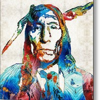 Native American Art By Sharon Cummings Metal Print