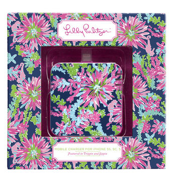 iPhone 5/5s Mobile Charger in Navy Trippin' and Sippin' by Lilly Pulitzer