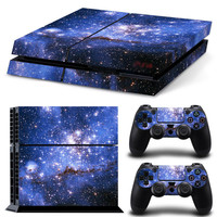 Starry Galaxy PS4 Decal Sticker Set