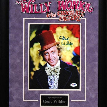 Gene Wilder Willy Wonka - Signed Photo Custom Framed
