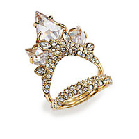 Alexis Bittar - Miss Havisham Jagged Crystal Cluster Multi-Row Ring - Saks Fifth Avenue Mobile