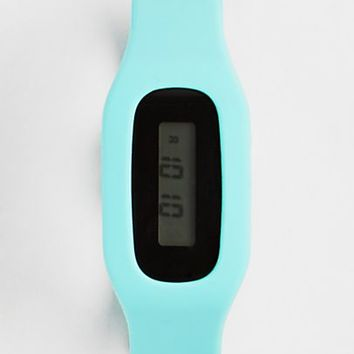 Light Green Fitness Tracker Watch