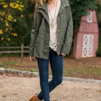 Winding Roads Jacket, Olive