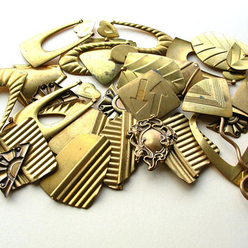 Brass Stamping Lot - Brass Stamping Grab Bag - Brass Stampings Lot