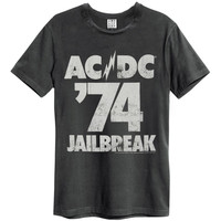 AC/DC Men's  Jailbreak 74 T-shirt Charcoal