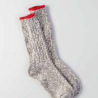 AEO Tipped Cuff Boot Socks, Gray