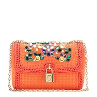 Dolce & Gabbana EMBELLISHED RAFFIA SHOULDER BAG
