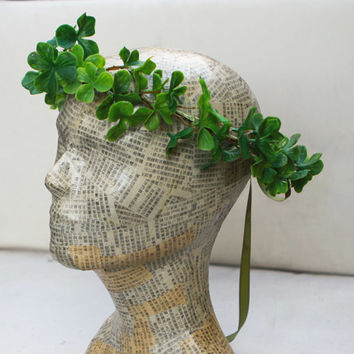 Shamrock Headpiece, Crown. Clover Crown, Clover, Irish, Unisex, Headband, Shamrocks, Leprechaun Costume, Tiara