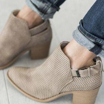 Stone Booties - FINAL SALE