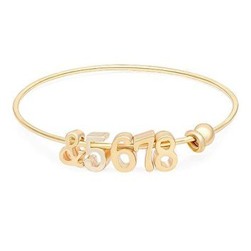 MANZHEN Dainty Personalized Bracelet amp5678 Dance Teacher Gift Bangle Bracelet