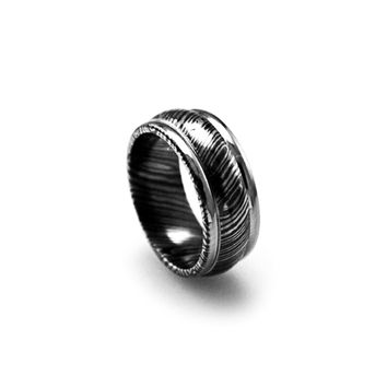 Wide Timoku Tri-Dome Band Ring
