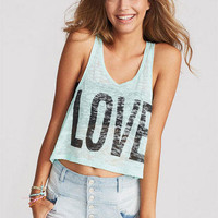 Love Burnout Mint Tee
